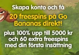 20 fria snurr Go Bananas
