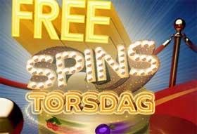 Free spins torsdag