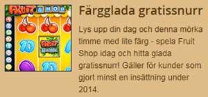 FruitShop färgglada gratissnurr