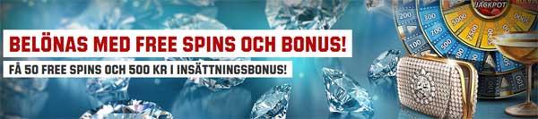 Belönas med gratissnurr bonus