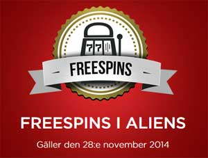 Freespins i Aliens