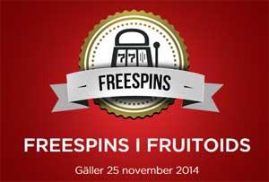 Freespins på Fruitoids