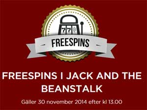 Freespins i Jack and the Beanstalk