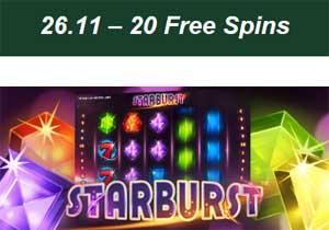 Mobilbet Starburst 26 november 2014