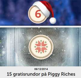 15 gratisrundor på Piggy Riches