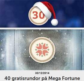 40 gratisrundor på Mega Fortune