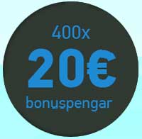 400x20 euro bonuspengar
