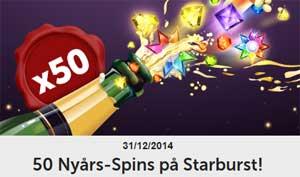 50 nyårsspins på Starburst