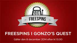Freespins i Gonzo's Quest