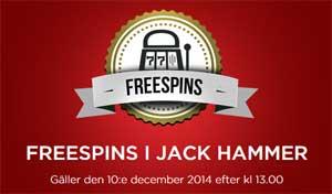 Freespins Jack Hammer