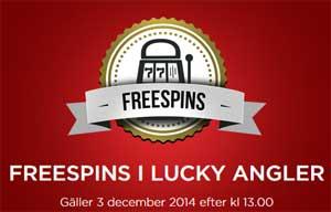 Freespins på Lucky Angler