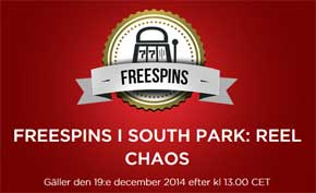 Freespins på South Park Reel Chaos