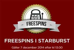 Freespins på Starburst