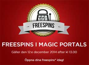 Gratissnurr på Magic Portals hos Mr Green