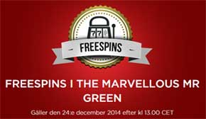 Marvellous Mr Green den 24 december
