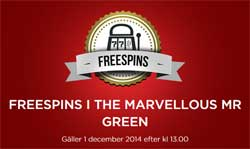 Marvellous Mr Green spins
