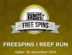 Reef Run freespins