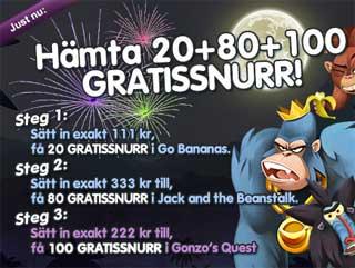 20+80+100 gratissnurr