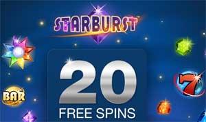 20 spins på Starburst