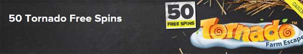 50 Tornado free spins