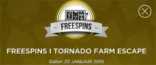 Freespins på Tornado Farm Escape