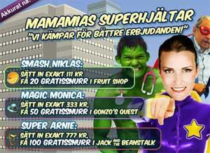 MamaMias superhjältar 15 januari