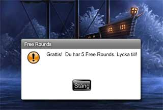 5 free rounds hos Leo Vegas