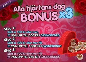 Alla hjärtans dag bonus X3