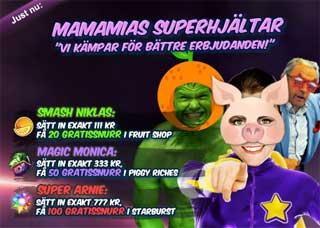 MamaMias superhjältar den 26 februari
