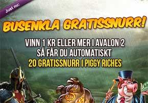 Busenkla snurr på Piggy Riches