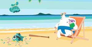 Casumo på stranden