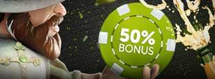 ComeOn 50 % bonus