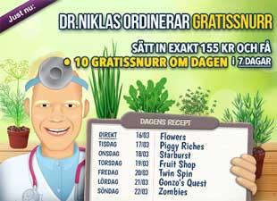 Dr Niklas i trädgården