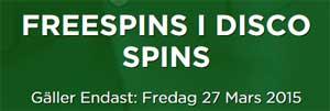 Freespins i Disco Spins den 27 mars