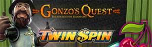 Gonzo's Quest och Twin Spin