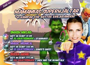MamaMias superhjältar den 19 mars