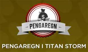 Pengaregn i Titan Storm