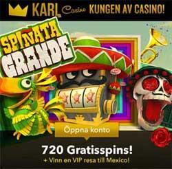 Spinata Grande kampanj hos KarlCasino