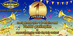 Sverigekronan firar 1 år