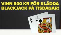Vinn 500 kr på klädda Blackjack