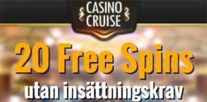 20 freespins hos CasinoCruise