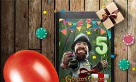 Gonzo's Quest fyller 5 år