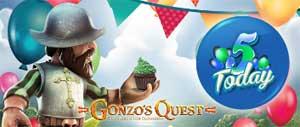 Gonzos Quest fyller 5 år