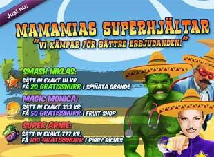 MamaMias Superhjältar 9 april