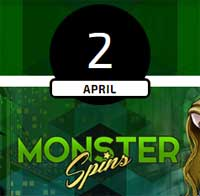 Monster Spins den 2 april