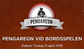 Pengaregn vid bordsspelen den 21 april 2015