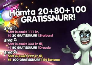 20+80+100 gratissnurr hos MamaMia