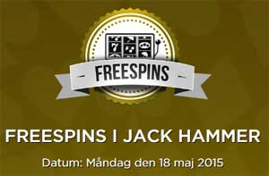 Freespins i Jack Hammer