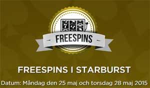 Freespins i Starburst
