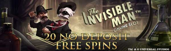 The Invisible Man - No Deposit spins